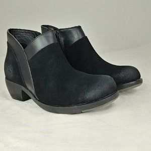 Fly London Black Suede Meba Ankle Boot Size 37